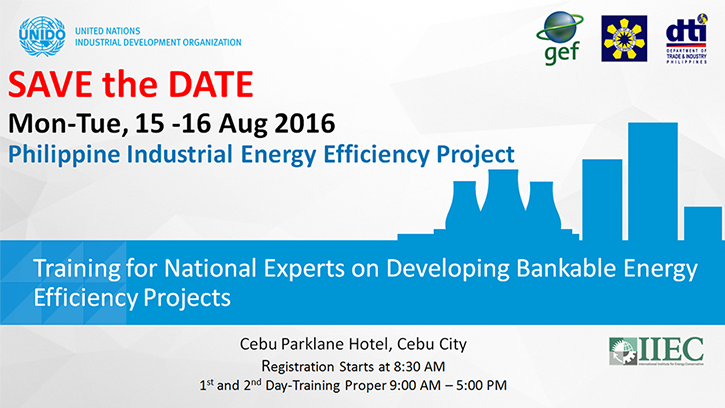 Training for National Experts on Developing Bankable Energy Efficiency Projects